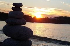 Beautiful Ingonish Sunsets with Inuksuk